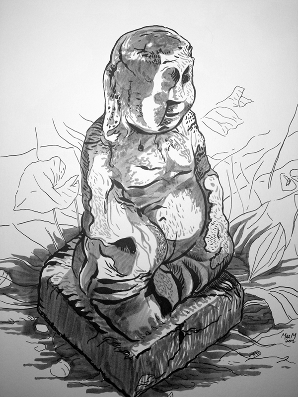 Disfigured Garden Buddha 600