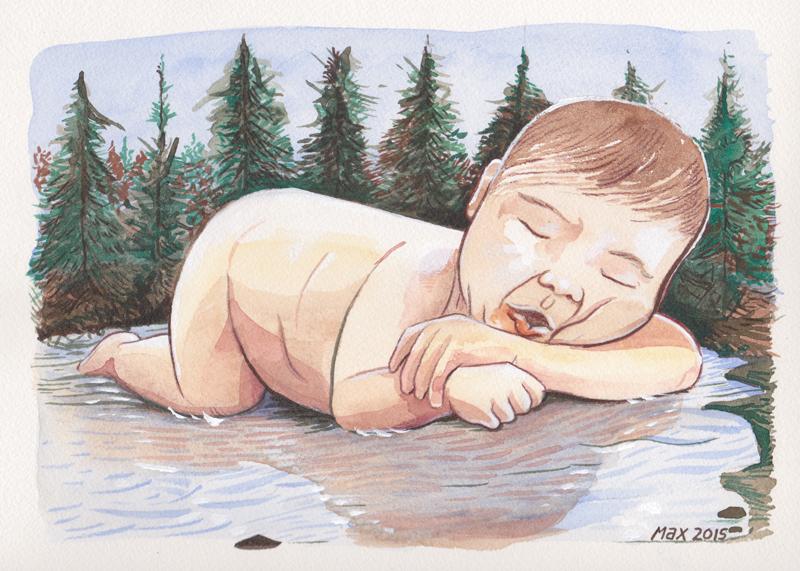Baby-and-Lake